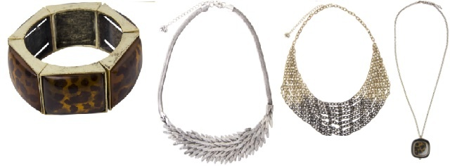 Max Fashions   Womens accessories (Bracelet $29, Feather Necklace $39, Gold Necklace $39, Long Necklace $39)