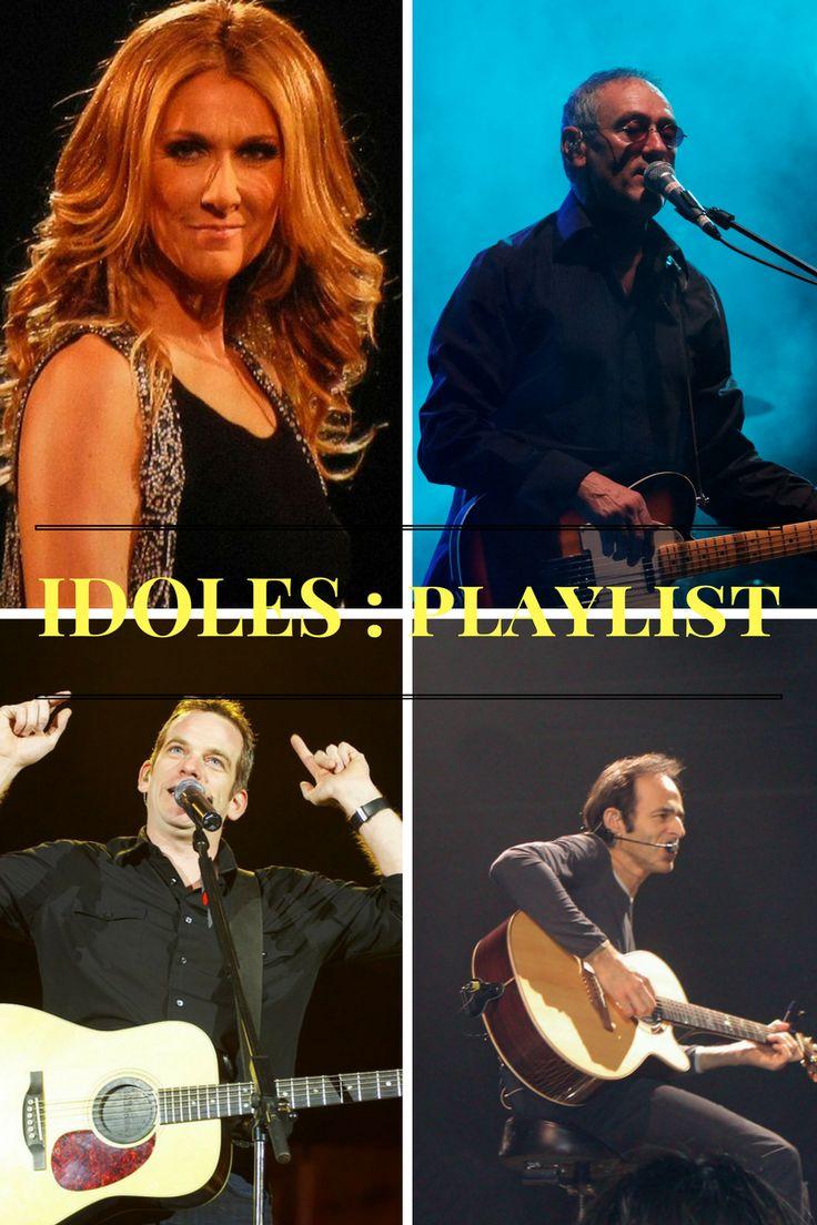 Mes chanteurs préférés en playlist. Céline Dion, Garou, Jean Jacques Goldman et Michael Jones