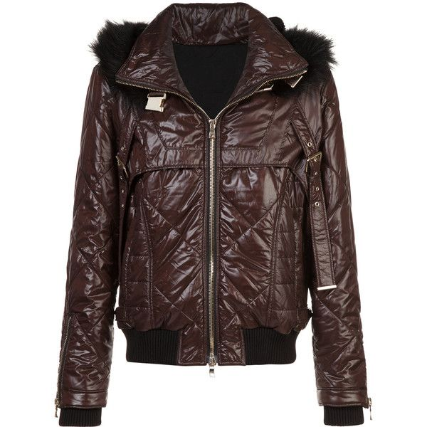 Balmain fur-trimmed quilted jacket (7,520 CAD) ❤ liked on Polyvore featuring men's fashion, men's clothing, men's outerwear, men's jackets, red, balmain mens jacket, mens red jacket, mens fur hood jacket, mens sports jacket and mens sport jackets