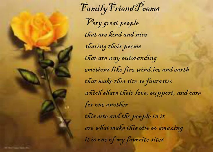 FamilyFriendPoems - Poems about Friendship