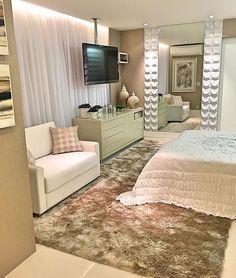 """Arq•Décor•Casa•Home•Interior no Instagram: """"Quando o quarto além de lindo é super acolhedor! 😍 Amei! Projeto Rossani Azambuja www.homeidea.com.br Face: /bloghomeidea #bloghomeidea…"""""""