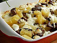 Pasticcio filante di funghi e patate-ricetta buonissima