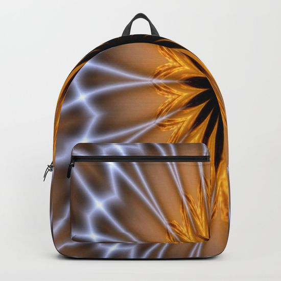 Golden Brown with a Twist Backpacks