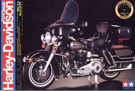 Harley Davidson Classic Black FLHT Model.
