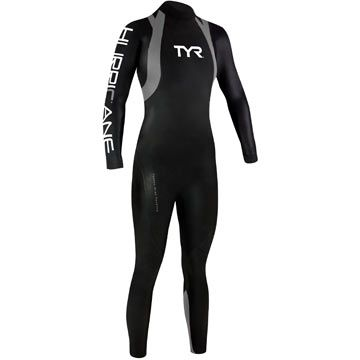 Looking for a perfect big-ticket gift for the triathlete in our life? Get her the TYR Women's Hurricane wetsuit to help shave off important seconds off her swim split. #christmasseconds #triathlete #swim