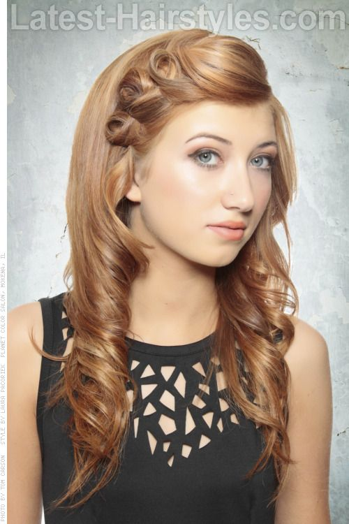 Beautiful Hairstyle with Curls and Twists #prom hairstyles