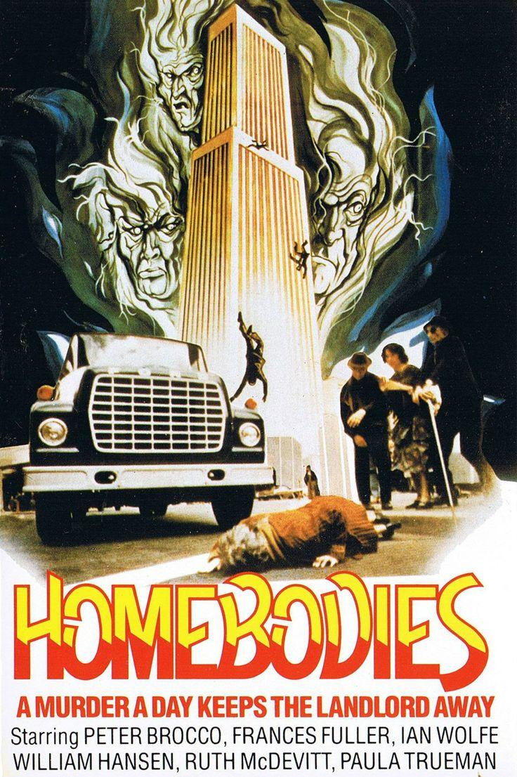 Homebodies – Οι Δολοφόνοι (1974) ★ Στο #Homebodies παρακολουθούμε την τρελή περιπέτεια μιας ολιγομελούς παρέας ηλικιωμένων των οποίων τα σπίτια πρόκειται να κατεδαφιστούν και στη θέση τους να χτιστούν μοντέρνες πολυκατοικίες. Οι ηλικιωμένοι τα παίρνουν στο κρανίο και σκοτώνουν όλους όσους εμπλέκονται στο οικοδομικό έργο ή τους παρενοχλούν.
