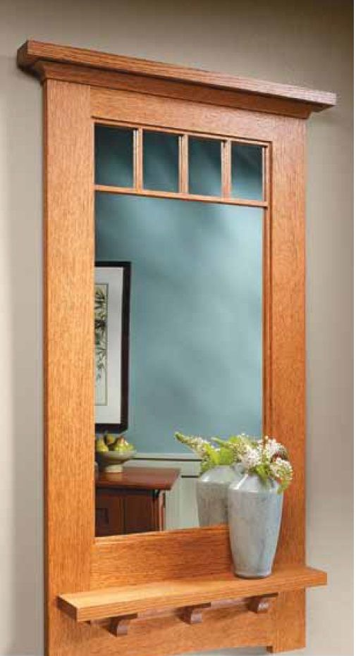 Craftsman Style Wall Mirror Woodsmith Plans Pinterest Style Craftsman And Craftsman Style