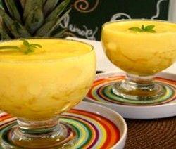 sobremesa gelado de abacaxi dukan