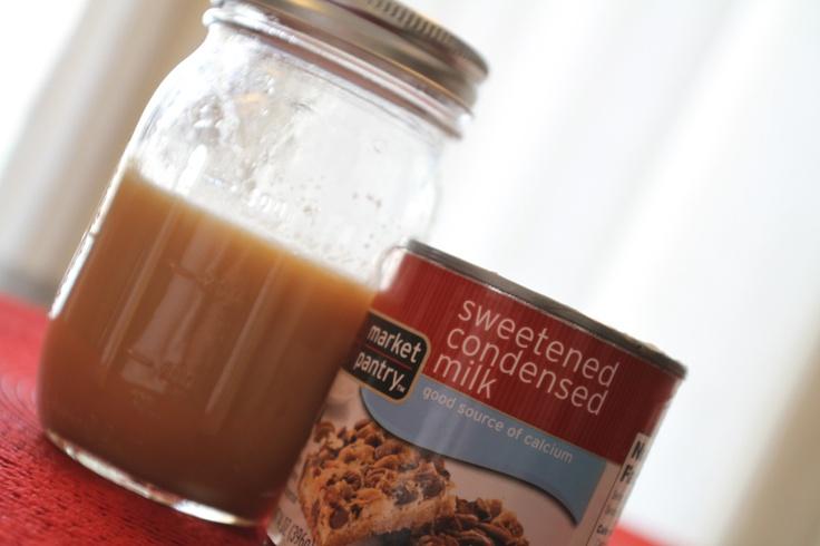 Homemade Sweetened Condensed milk = homemade coffee