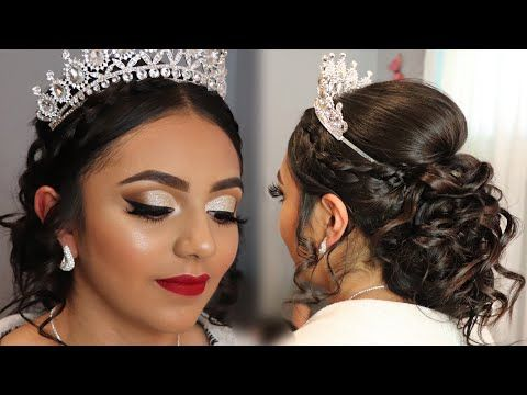 Quinceañera Glam 🌹 | Glitter Cut Crease ✨ | Makeup & Hair Tutorial  | Rosi…