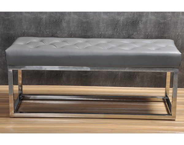 Adelinda Metal And Leather Bench Leather Bench Contemporary Bench Furniture