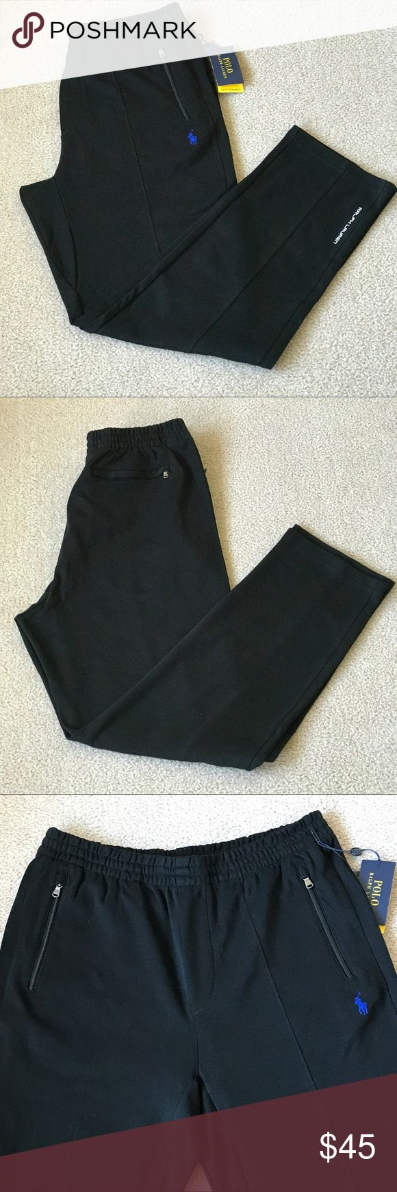 POLO RALPH LAUREN PERFORMANCE NWT MEN's POLO RALPH LAUREN PERFORMANCE SWEAT PANTS. Brand new with tags attached. Size: Large Color: Polo Black  Elastic waistband with drawstring inside.  Two zip pockets in the front, one zip pocket in the back. POLO  RALPH LAUREN Pants Sweatpants & Joggers