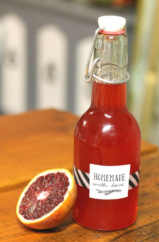 blood orange simple syrup recipe