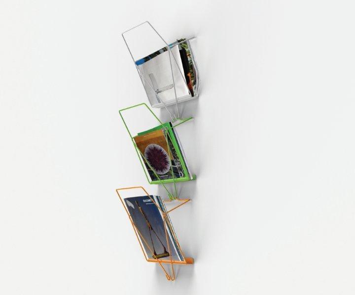 """Wall magazine rack 2più1 - published on """"Design For 2013"""" #studioventotto  http://www.studioventotto.com/en/progetti/portariviste-da-parete-2piu1/"""