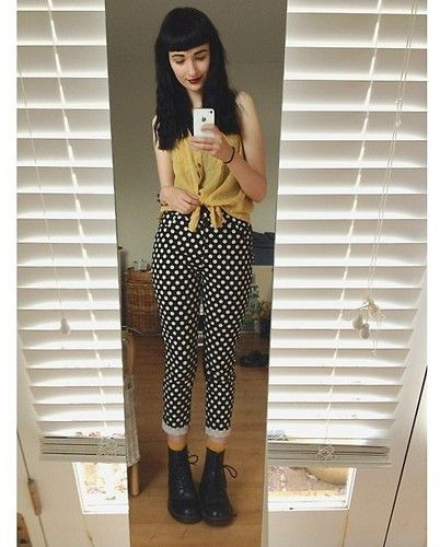 Dangerfield Polka Dot Pants, Doc Marten Boots