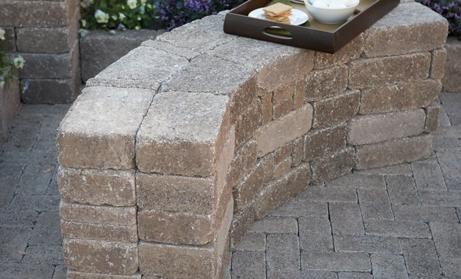 Diy RumbleStone Seat Wall And Fire Pit Kit Installation | Patios, Google  Search And Backyard