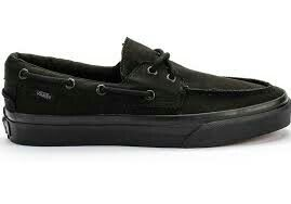 Vans zapato del barco shoes all black
