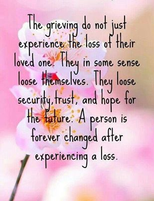 Absolutely true...since I have lost my pregnancies . Sadly nothing can ever change that feeling.