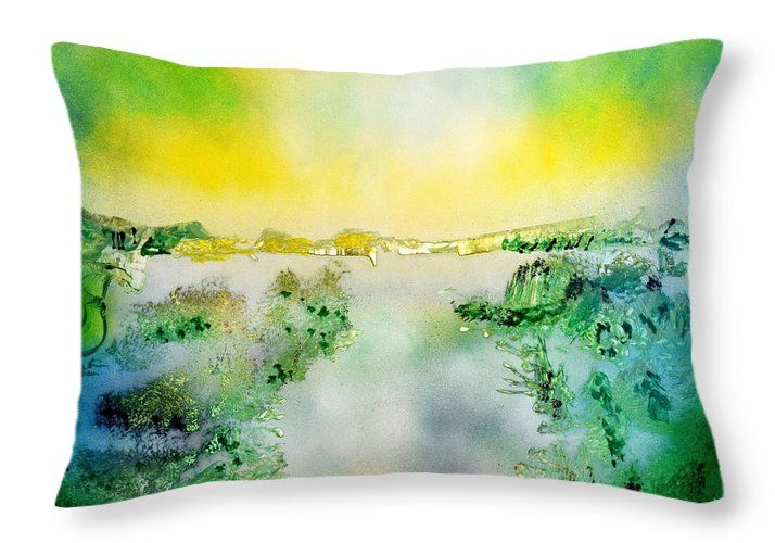 Lake Of Transparency Throw Pillow Printed with Fine Art spray painting image Lake Of Transparency Nandor Molnar (When you visit the Shop, change the size, background color and image size as you wish)