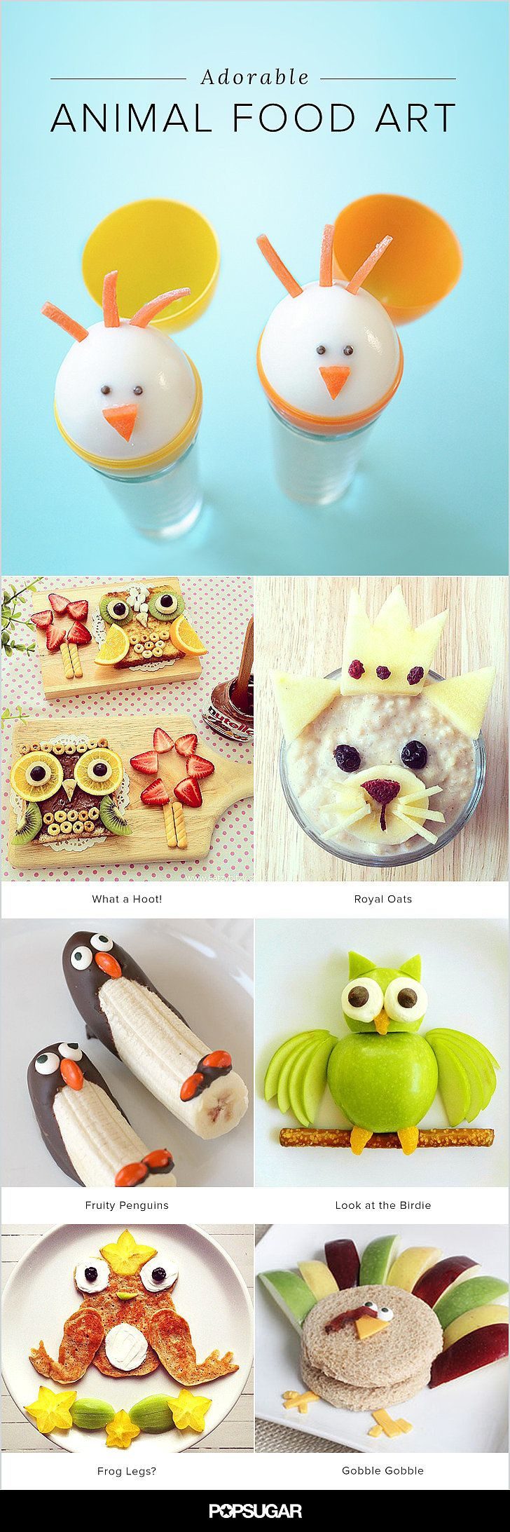An Animal Snack Attack: 17 Works of Animal Food Art - let your little one eat their favorite animal!