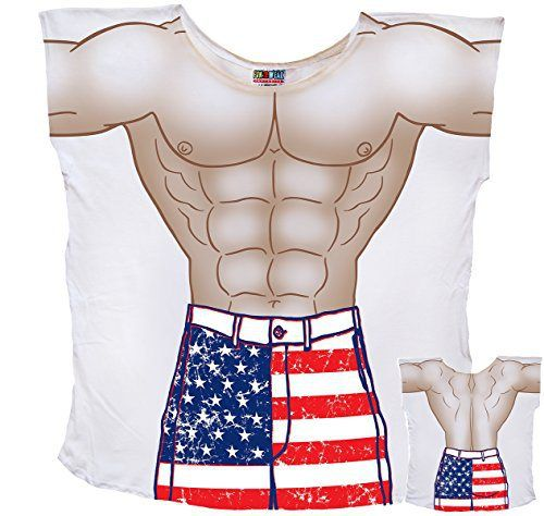 Mens Stars And Stripes Muscle Guy Coverup T-Shirt #74 - http://www.mansboss.com/mens-stars-and-stripes-muscle-guy-coverup-t-shirt-74/?utm_source=PN&utm_medium=I+Love+Bikes&utm_campaign=SNAP%2Bfrom%2BMen%27s+Stuff