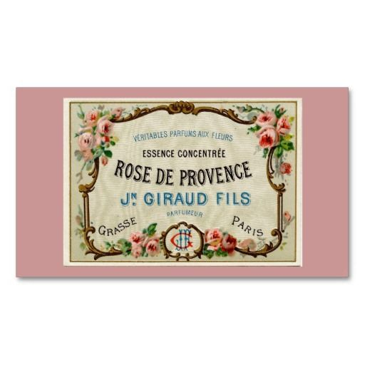 Rose de Provance a French Perfume Business Card Templates