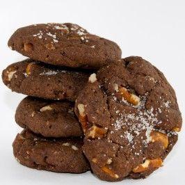 Organic Vegan Chocolate Pecan Pretzel Cookies