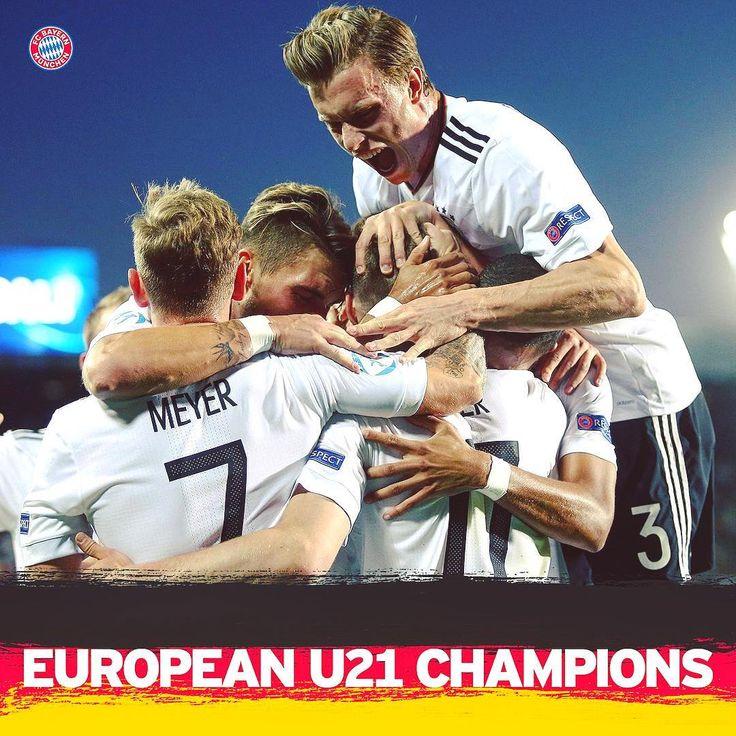 Bravo, @dfb_junioren! 👏 @sergegnabry and the Germany U21s are European Champions. 🏆 #U21EURO #GERESP #FCBayern