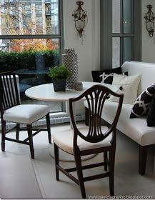 Frog Hill Designs: Banquette Seating.