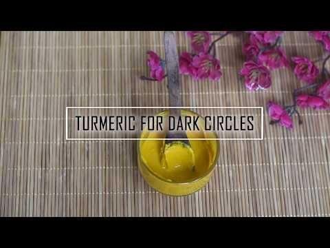 GET RID OF DARK CIRCLES WITH TURMERIC - Little DIY # ...