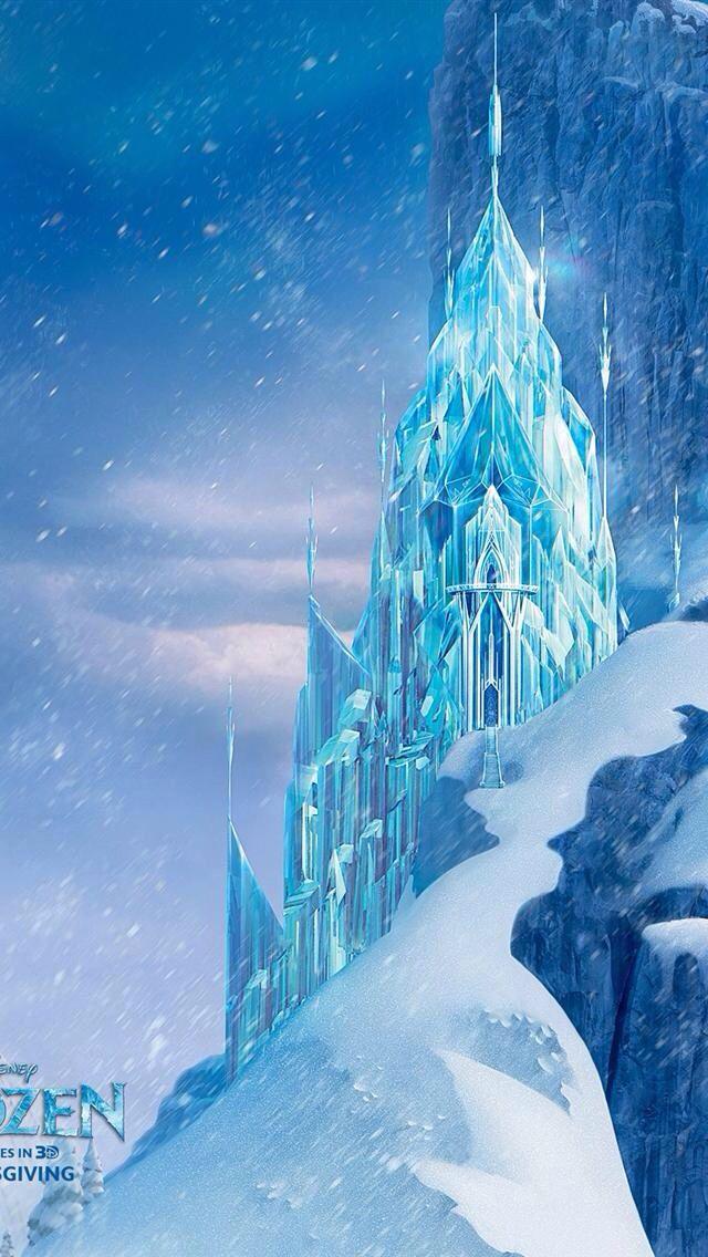 Frozen castle | Disney Iphone Backgrounds | Pinterest ...