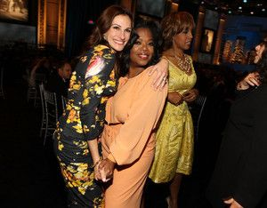 Julia Roberts and Oprah Winfrey in the audience during the 38th AFI Life Achievement Award honoring Mike Nichols