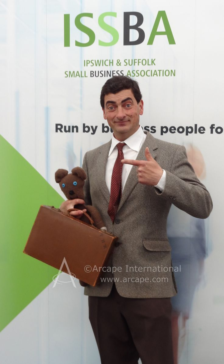 Did you meet Mr Bean at the Anglia Business Exhibition?  He was the special guest at the ISSBA stand.