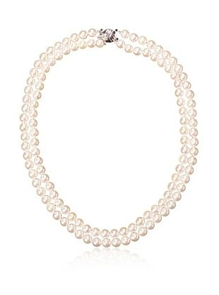 -71,300% OFF Radiance Pearl 6.5-7.0mm Double Strand White Akoya Pearl Necklace