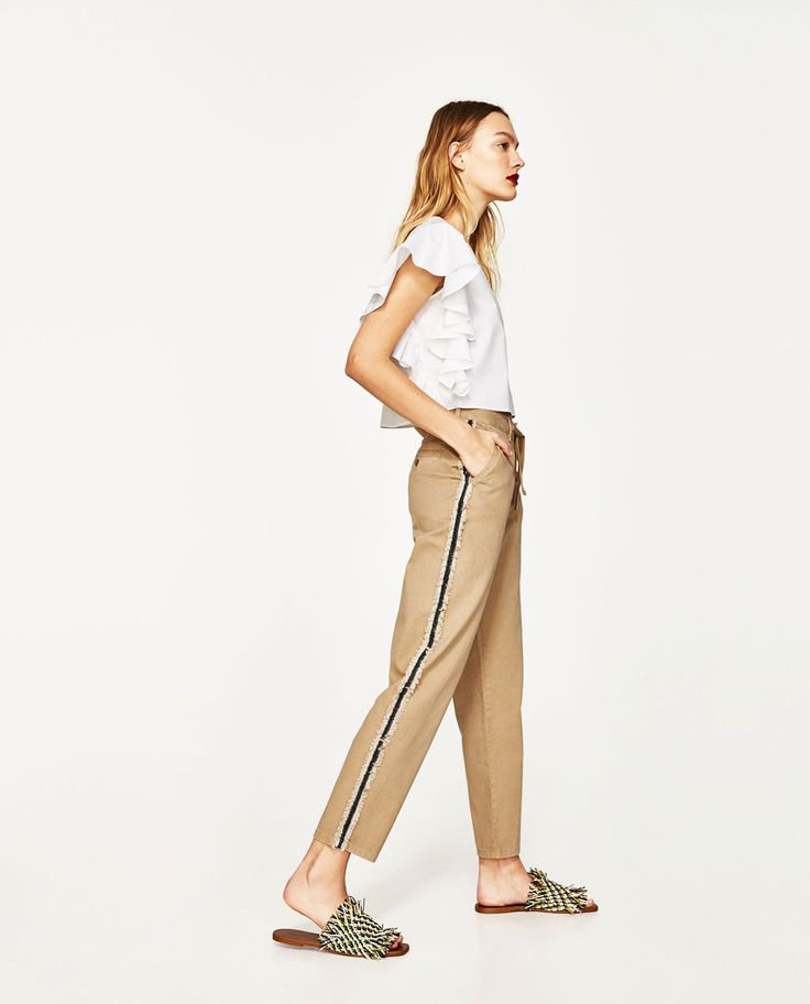 TROUSERS WITH SIDE BANDS-View All-TROUSERS-WOMAN | ZARA United States