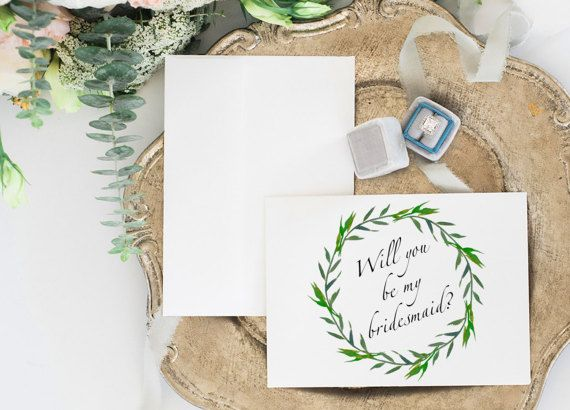 Will you be my bridesmaid card DIY by PrintableMemoriesCo on Etsy