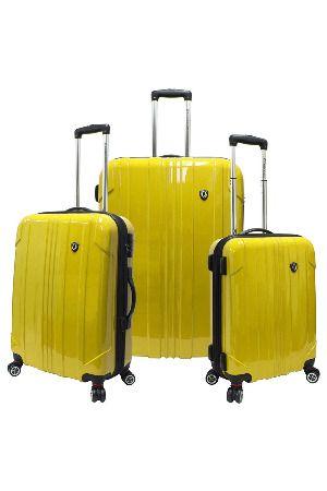 3-Piece Sedona Expandable Luggage Set in Yellow