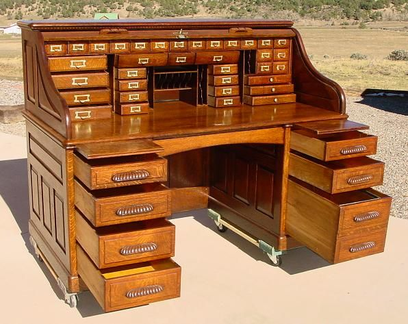 Amazing Antique Office Desk antique furniture office desk and stools Antique Roll Top Desk Check Anything To Write At It Working Hold