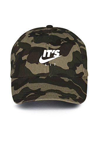 7ebd4417588a0 CUSTOM It s Lit Swoosh Camo w  White Unstructured Dad Hat
