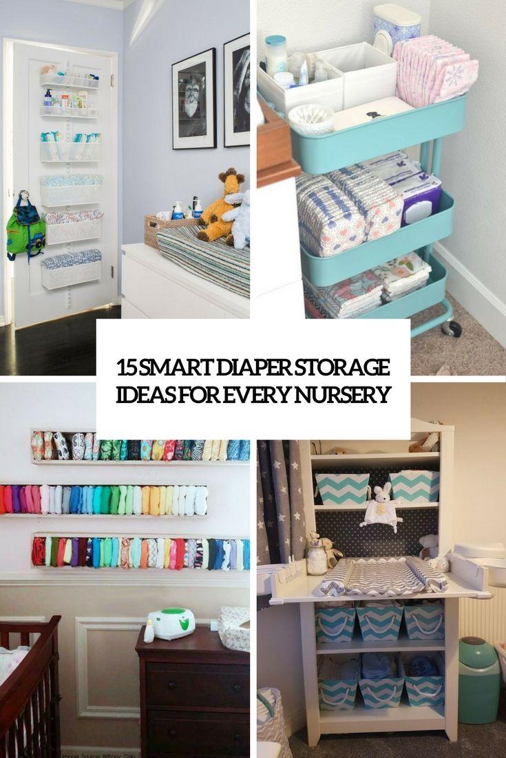 Smart Diaper Storage Ideas For Every Nursery Nurseyorganization Nurserystorage Nurseryideas Nursery Shelves Diaper Storage Diy Nursery Bookshelves