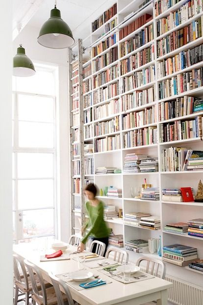 Someday... though I probably would have this set up in my living room with the entertainment unit incorporated. The Design Chaser: Bookshelves | Ideas for the Home