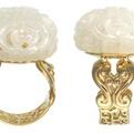 Il Shaoo bianco anello di giada