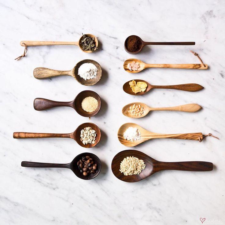 wooden spoons & scoops