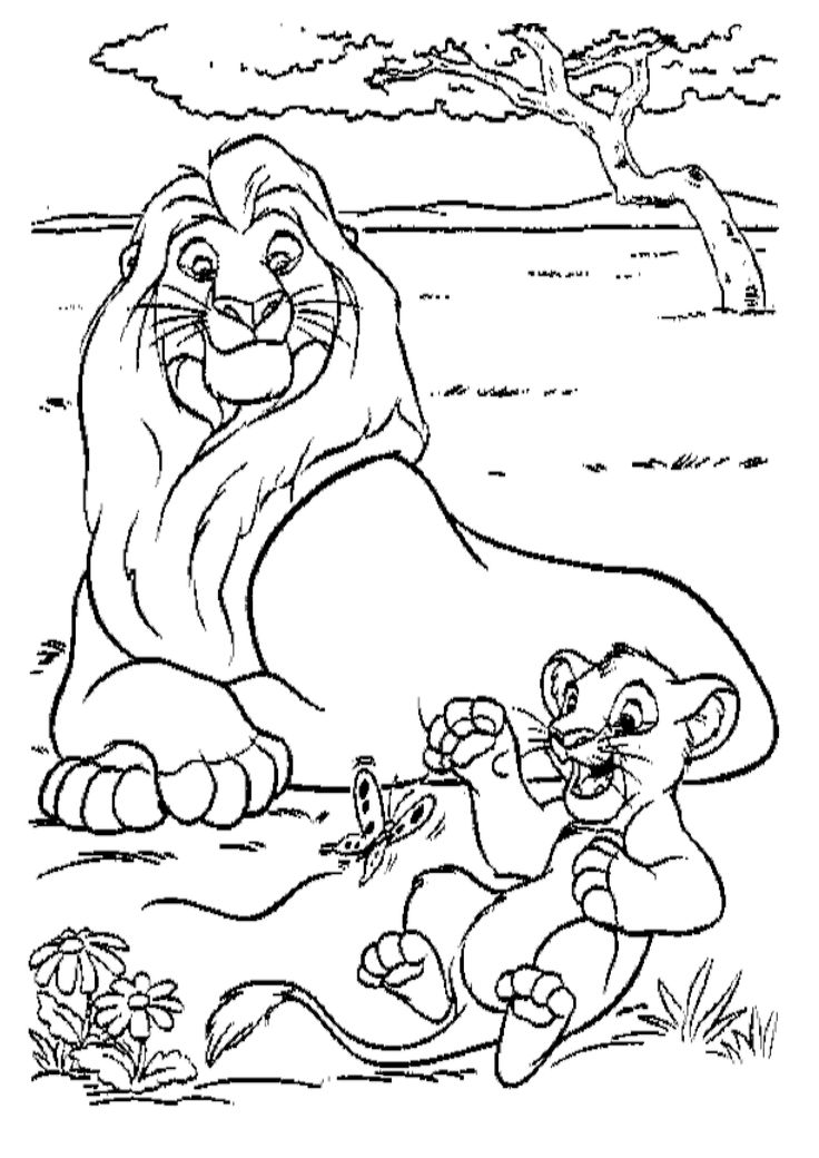 between the lions coloring pages - lion king characters coloring page