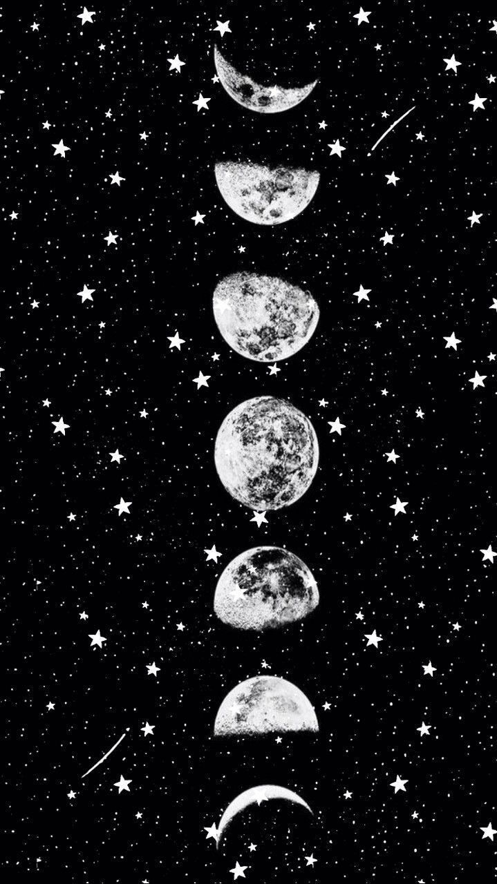 Moon Stars Moon And Stars Wallpaper Space Phone Wallpaper Star Wallpaper