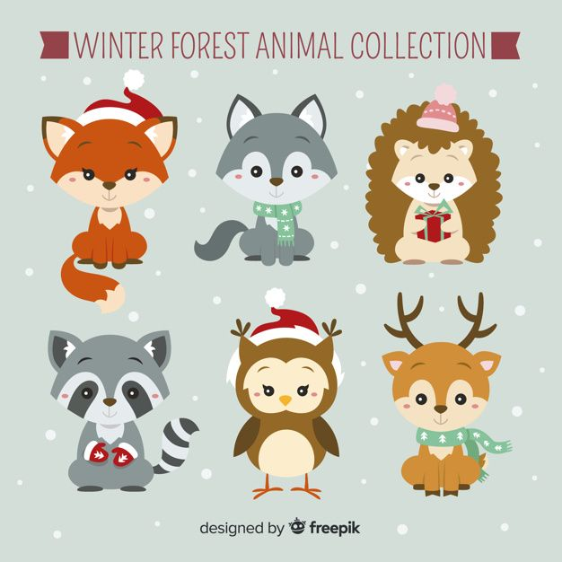 Download Winter Forest Animal Collection For Free Forest Animals Animal Clipart Winter Forest