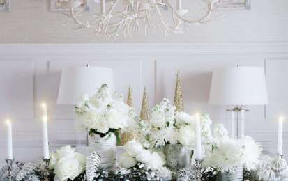 Decorazioni di Natale in bianco: dall'albero agli addobbi [FOTO] - La purezza, la raffinatezza e la magia del bianco è la tonalità che non mancherà di caratterizzare la moda e lo stile della casa alla moda in questo Natale 2016.