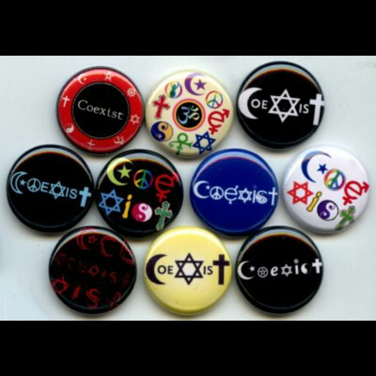 Coexist Anti-Racism Tolerance Diversity Pinback button set by Yesware11 on Etsy.. Click for details!