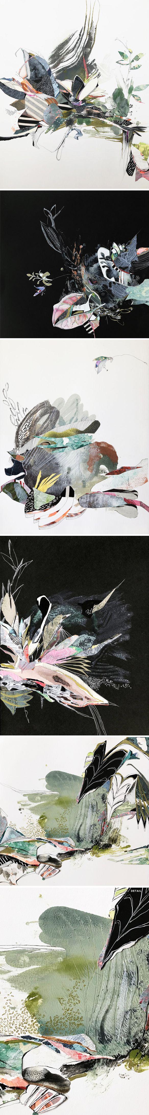 mixed media by kaylee dalton <3 #contemporaryart #mixedmedia #botanical